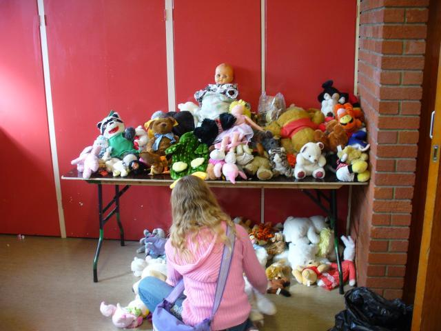 As well as the rest of the toys, we have a corner for cuddlies